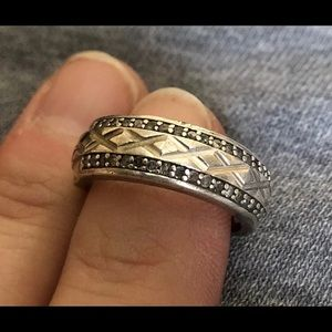 Jewelry - Unisex wedding band sterling silver size 6 1/2